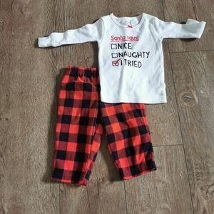 2/$20 Carter's Christmas pajama set 12m